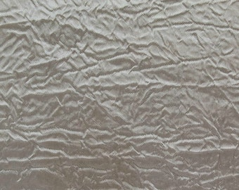 Creased Taffeta Silver 120 Inch Fabric by the Yard - 1 Yard