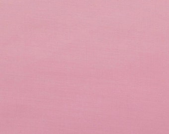 45 Inch Poly Cotton Broadcloth Pink Fabric by the yard - 1 Yard