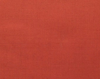 45 Inch Poly Cotton Broadcloth Rust Fabric by the yard - 1 Yard