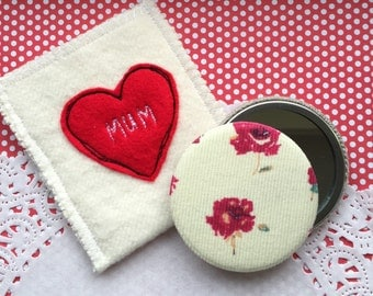 Liberty Fabric Covered Compact Mirror