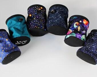 Aquarius Astrology Symbol Chalk Bag - Rock Climbing Chalk Bag