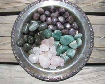 Crystal Kit, Anxiety Crystals, Crystal Healing, Rose Quartz, Aventurine, Labradorite, Lepidolite