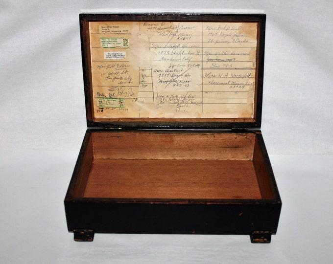 Antique Vintage Primitive Americana Letter Stationary Box