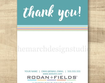 Rodan and Fields Thank You Cards, Customizable, Digital File, Rodan and Fields Business Thank You, Customer Appreciation, DIY, Print at Home