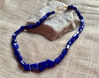 Chunky Lapis Lazuli Choker