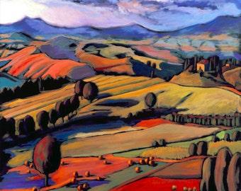 Art Print, Wall Art, Home Decor, Giclee Print, Daniel Ng: Sunrise Tuscany Giclee Print Signed, Limited Edition