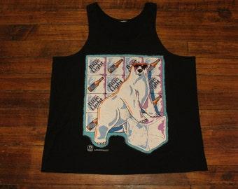 Labatt Blue Light polar bear vintage beer muscle shirt tank top sleeveless shirt