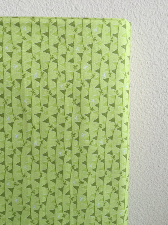 Green Banners Tree Party Fabric by Kelly Panacci from Riley Blake Designs