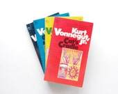 Kurt Vonnegut - 4 Vonnegut Books - Cat's Cradle, Player Piano, Welcome to the Monkey House, Mother Night