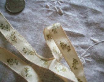 Exceptional and rare  antique authentic ribbon silk doll supply