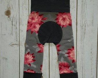 Maxaloones,toddler leggings,grow with me pants,maxaloones pants,floral maxaloones,baby girl maxaloons