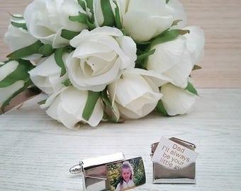 Personalised cufflinks; envelope cufflinks; father of the bride gift; wedding cufflinks; envelope Cuff Links; cuff links; groom gift;