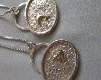 Filigree Pendant with Gold