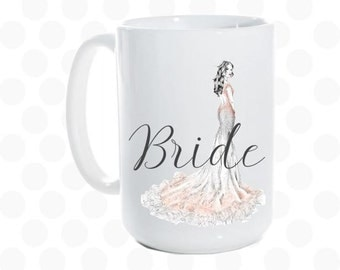bride gift from maid of honor, Bride to be gift, Bride wedding gift, Bride coffee mug, unique bridal shower gift, engagement, Bride gift