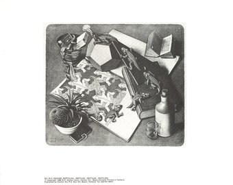 MC Escher-Reptiles-1988 Poster