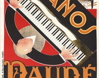 Andre Daude-Pianos-1979 Lithograph