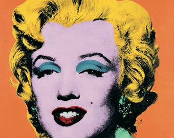 Andy Warhol-Marilyn Orange (Lg)-1989 Poster