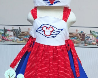 Disney Cruise - Sail Away  - Cruise Vacation Dress ~ Sailor Dress ~ Birthday Party ~ 4th of July  ~ Disney Vacation