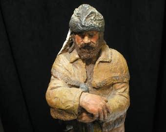 Vintage 1987 Michael Garman Mountain Man Figure Sculpture