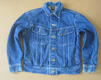 Lee Denim Jean Jacket Patd 153438 Small Trucker Work Rockabilly Coat Vintage 50s