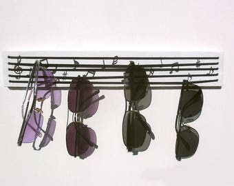 sunglasses holder - musical notes key hanger