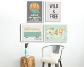 Wild and Free Collection, kids art collection, kids decor, children's decor, kid's art, children's art, nursery decor, nursery art