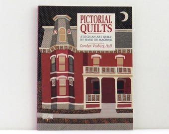 Pictorial Quilts book, landscape quilting, picture quilts, art quilts, quilting book, used craft book, quilting book, sewing book