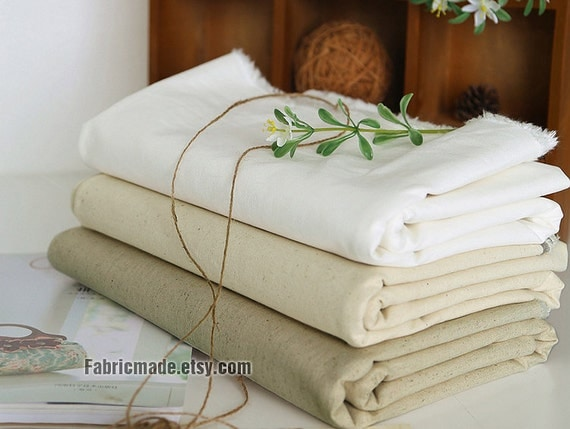 Natural White Beige Fabric, Linen Fabric, White Beige Linen, White Linen Cotton, Beige Linen Fabric, Basic Fabric- Solid 1/2 yard