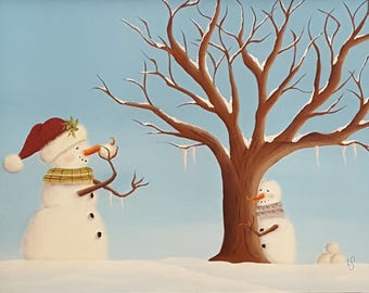 Snowball Fight! Tole painting pattern