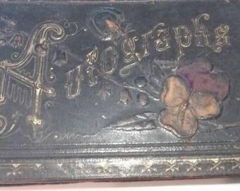 Antique Autograph Book Victorian Poetry Ephemera