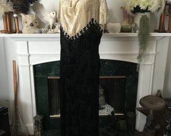 30s Burnout Velvet Party Dress