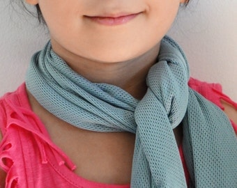 Soft Light Blue Mesh Scarf