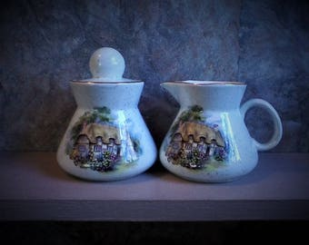 Cottage Sugar and Creamer