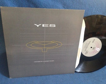 """Vintage, YES - """"Owner Of A Lonely Heart, Our Song"""", Vinyl LP, 12"""" Maxi Single, Record Album Original 1983 Press, Chris Squire, 90215"""