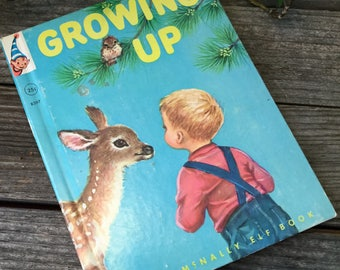 Vintage childrens book Growing up Rand Mcnally elf books#8397