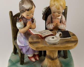 Norleans Japan vintage antique praying children figurine
