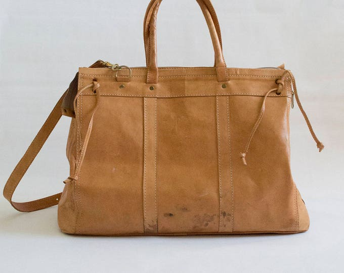 Large Tan Leather Tote