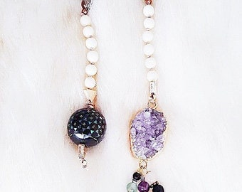 Fluorite, Amethyst and Rose Quartz Connection Necklace