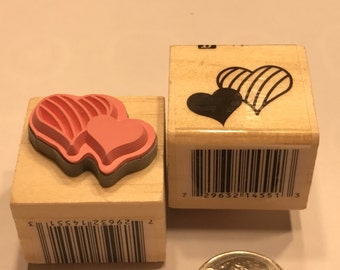 small hearts rubber stamp, 20 mm (BB4)