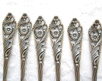 RESERVED  for YUCHI -6 vintage silver plated cake forks silver plate vintage pastry forks tea party high tea silver cutlery set