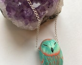 Fun and bright owl necklace