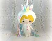 Girl in Unicorn Costume Doll