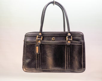 Stunning leather handbag - pockets galore - Cornell Creations - black