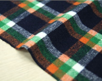 Wool Blend Plaid Fabric - By the Yard 95958