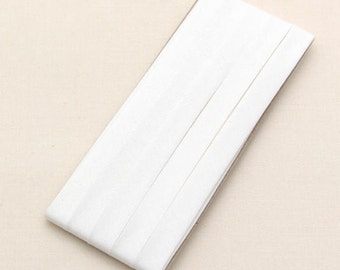 Cotton Candy Series Folded Cotton Bias in White - 3 Yards 92878