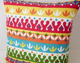 Moroccan Pillow, Stripe Pillow, Kilim Pillow, Colorful Pillow, Aztec Pillow, African Pillow, Decorative Pillow, Designer Pillows