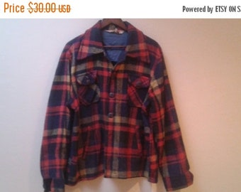SALE Thick plaid shirt or jacket vintage Xl jacques martin collection