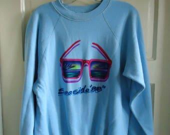 Vintage 80s SEASIDE Airbrushed Crewneck Sweatshirt sz M