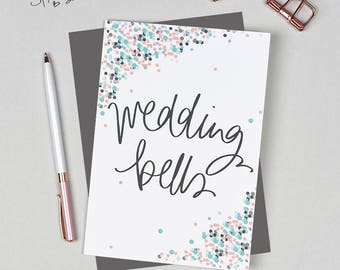 Wedding Bells - Greeting Card -  perfect for wedding or engagement - civil partnership - gay wedding