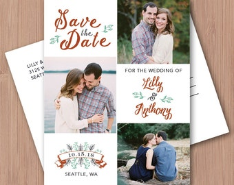Photo Save the Date Printable - Photo Save the Date Magnet - Photo Save the Date Postcards - Save the Date Card